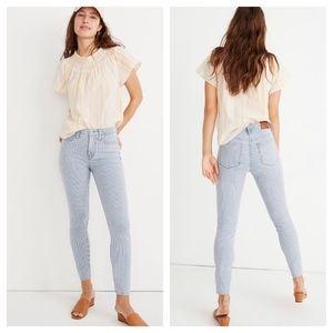 NWOT High-Rise Skinny Crop Jeans Piper Stripe 24